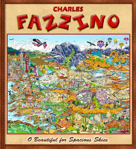 "Charles Fazzino ""O Beautiful for Spacious Skies"" Art book"
