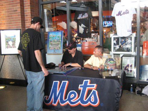 John France NY Mets Citi Field poster signing