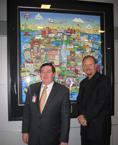 American Airlines Managing Director Brian Troy and Charles Fazzino at JFK