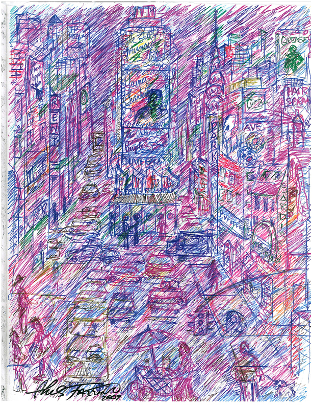 charles-fazzino-pop-art-sketch-for-MDA