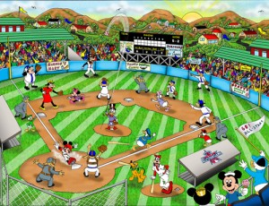 Disney baseball All star COLOR LR