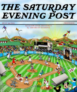 Disney baseball  SATURDAY EVENING POST Flat