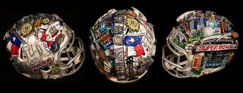 Charles Fazzino Superbowl Pop Art Helmet