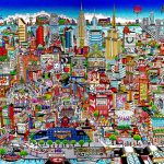 detailed 3D mural of NYC from The Bronx to Soho and beyond!