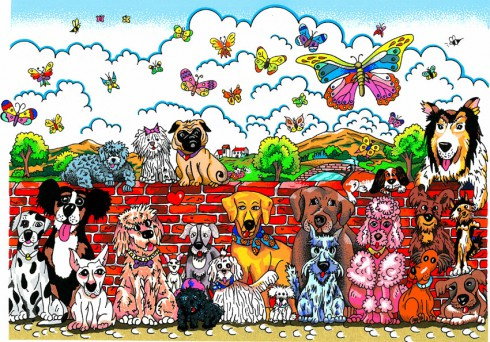 fazzino-limited-edition-artwork-Its-A-Dog-Day-Afternoon