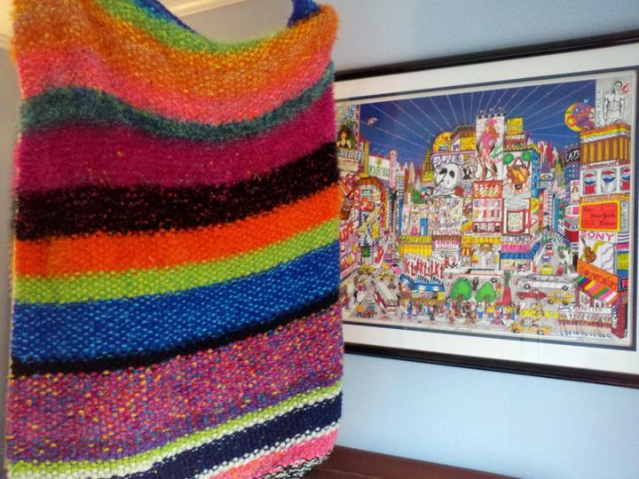 Fazzino inspired blanket