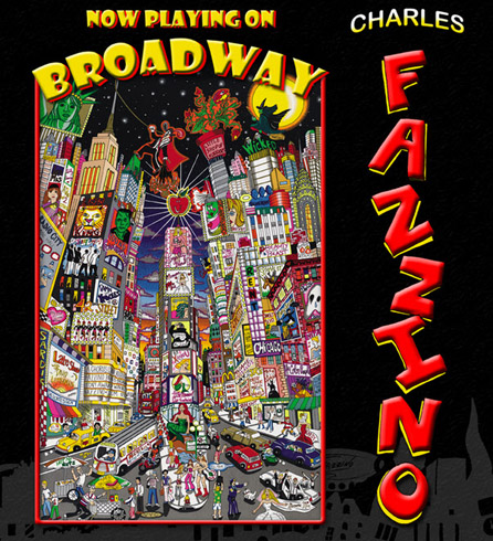 Charles Fazzino Now Playing on Broadway Book