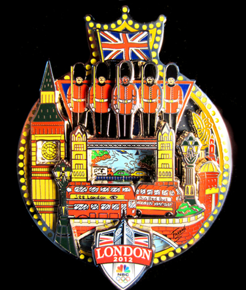 Fazzino Official London Olympics Pop Art Pin