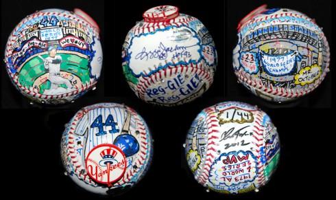 Fazzino Reggie Jackson Hand-painted baseball