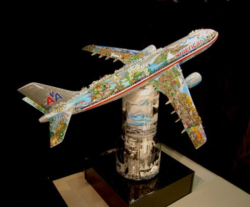 Fazzino Begins 3d Airplane Sculpture For American Airlines