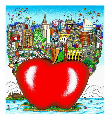 Balloons and Buterflies Over the Big Apple by Charles Fazzino