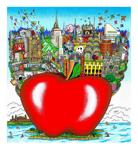 fazzino-cityscape-art-balloons-butterflies-over-big-apple