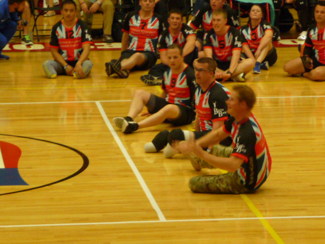 Prince Harry Participates in Sitting Volleyball Exhibition