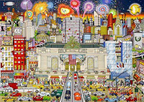 fazzino-cityscape-art-NYC-Grand-Central-NY-Grand-Celebration