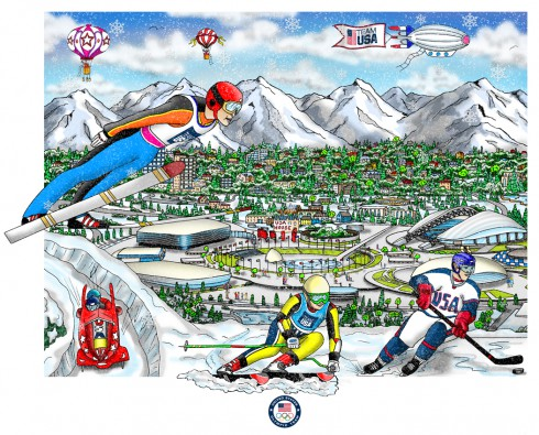 Charles Fazzino's Limited Edition 3D Pop Art for the upcoming Olympic Games in Sochi, Russia