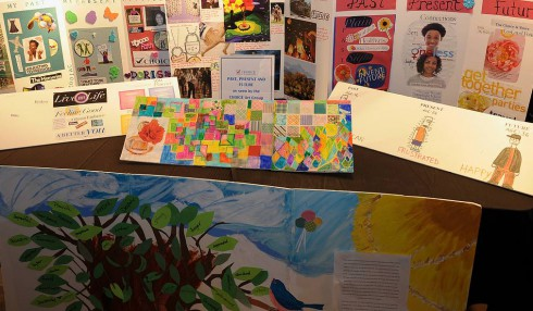Art on display from the CHOICE fundraising event