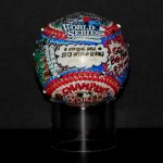 Fazzino design of a world series official baseball celebrating the red sox win in the world series 2013