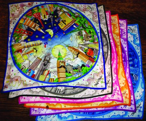 colorful pocket squares