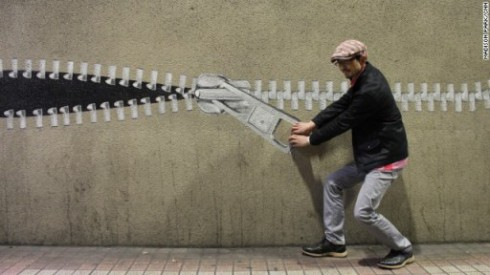 image of jun kitagawa's zipper artwork in japan