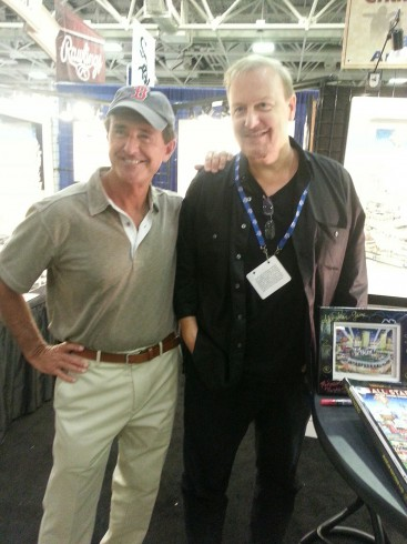 Image of Fazzino and Fred Lynn posing for a photo at MLB All Star Game Fan Fest