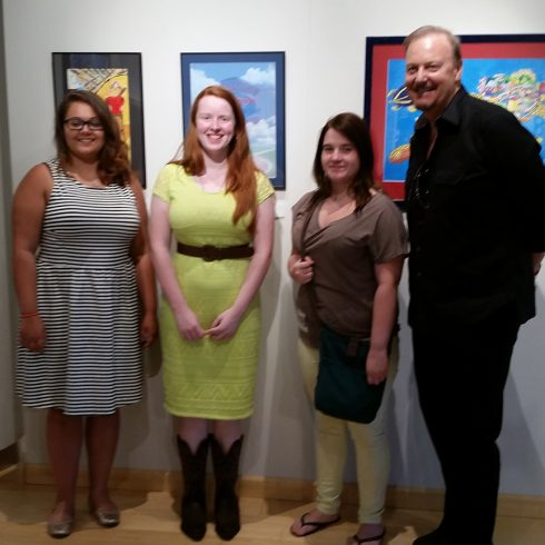 Kelsey Roberts, Melissa Rosenberger and Schai Bilger, three winners of the Lycoming County Art Contest