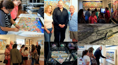 Photos of Charles Fazzino at 2014 Art Fest in New Rochelle