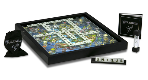 The Limited Edition Fazzino Scrabble Board Game and pieces