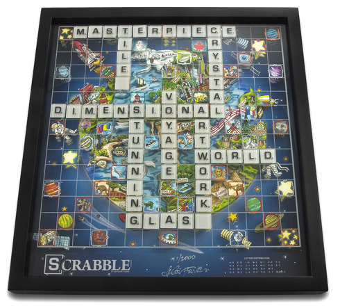 The Fazzino Limited Edition Scrabble Board
