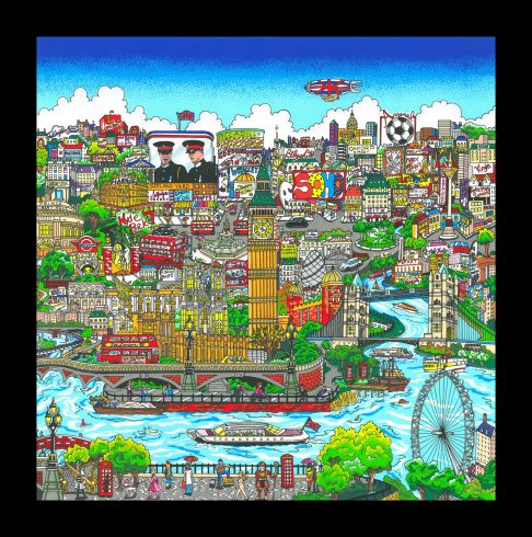 london-cityscape- PR fazzino-2010-pop-art-LR