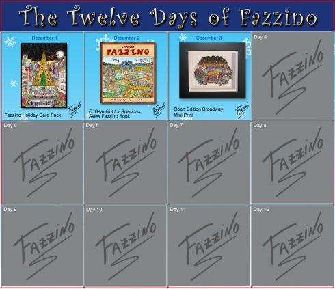 twelve days of Fazzino-Day 3