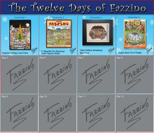 twelve days of Fazzino-Day 4