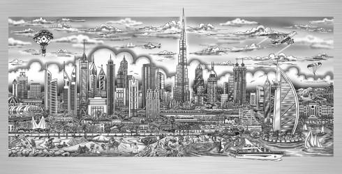 fazzino-cityscape-art-Dubai-illusions