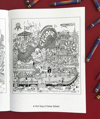 fazzino-adult-coloring-book-coney-island