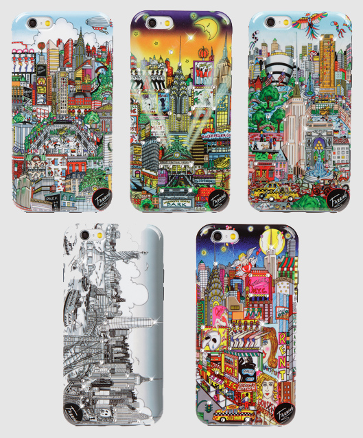 All five Fazzino Art Phone Cases for all sizes and styles