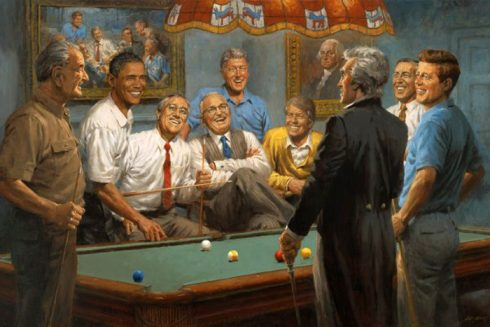 painting-of-nine-democratic-presidents-by-andy-thomas
