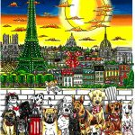 Paws in Paris, 3D Pop Art by Charles Fazzino.