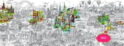 Small World Line Art LR-ITALY-HIGHLIGHT