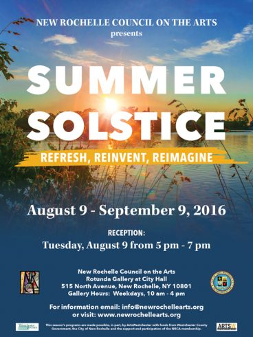 "The New Rochelle Council on the Arts Summer Solstice Poster ""Refresh, Reinvent, Reimagine"""