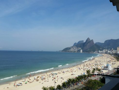 Ipanema Beach in Rio de Janeiro at the 2016 Olympic Games.