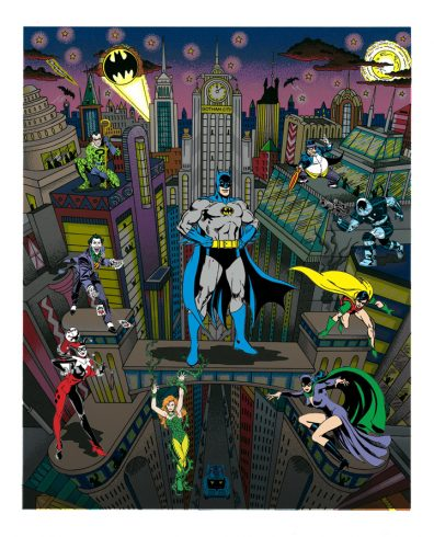 209 pop art piece done by Charles Fazzino: Batman: The Dark Knight