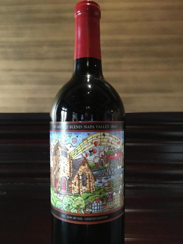 Fazzino addition St George NAPA Valley wine bottle