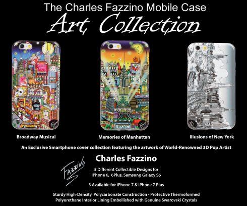 Charles Fazzino pop art cell phone art cases