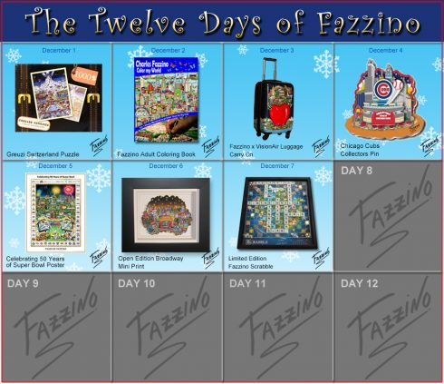 Twelve Days of Fazzino Scrabble Board Day 7