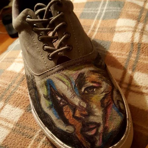 Fazzino featuring Kane Peterson's artwork - shoe