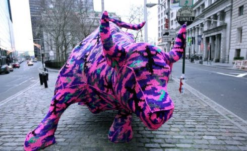 "Olek "" The Charging Bull"" Wall Street, New York City"