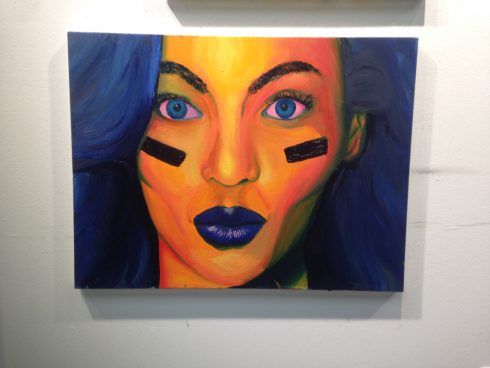 Charles Fazzino featured artist Rachel Herz - self portrait