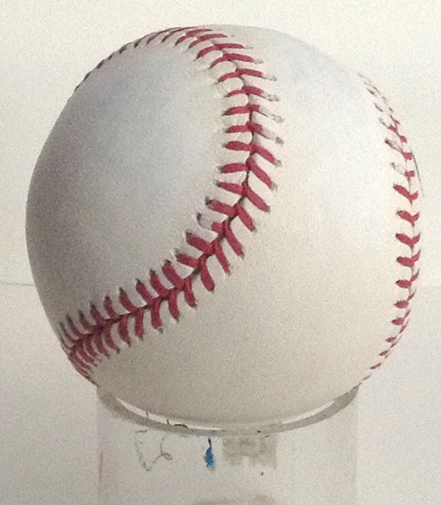 A baseball ready for Fazzino's creative touch