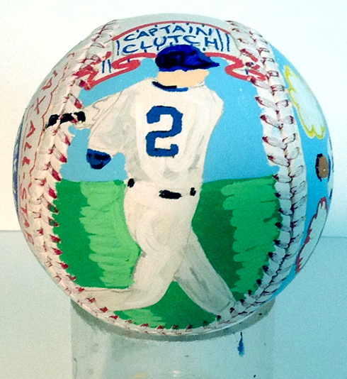 The batter gets colored in on the baseball artwork