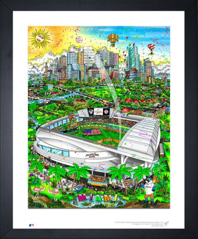 The 2017 All-Star Game limited edition print featuring the Marlins home stadium in Miami Florida