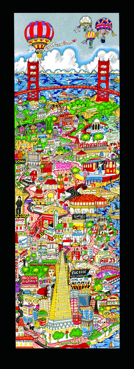 "Charles Fazzino 3D Pop Art piece ""That San Francisco Treat"""
